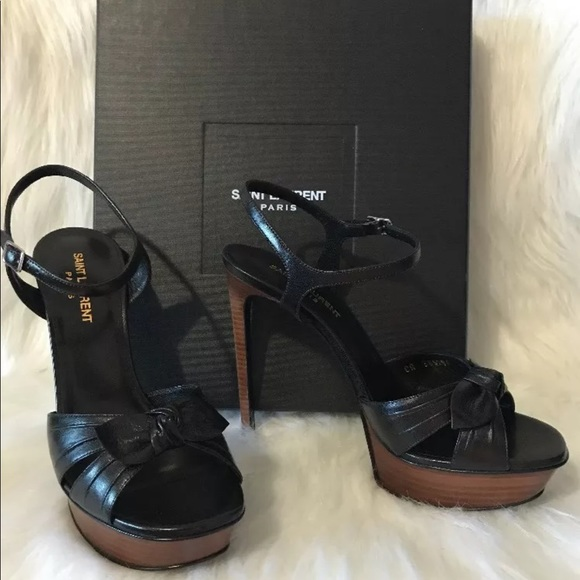 7bdcf81da6b Yves Saint Laurent Shoes | Saint Laurent Bianca 105 Bow Sandal 385 ...